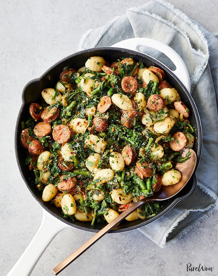 Skillet Gnocchi with Sausage and Broccoli Rabe