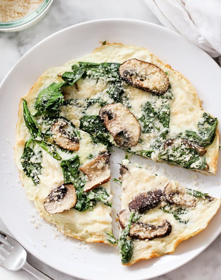 Spinach and Mushroom Egg White Frittata
