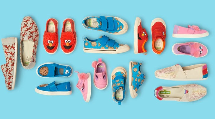 The New 'Sesame Street' TOMS Collection Is So Cute Even Oscar the Grouch Would Approve