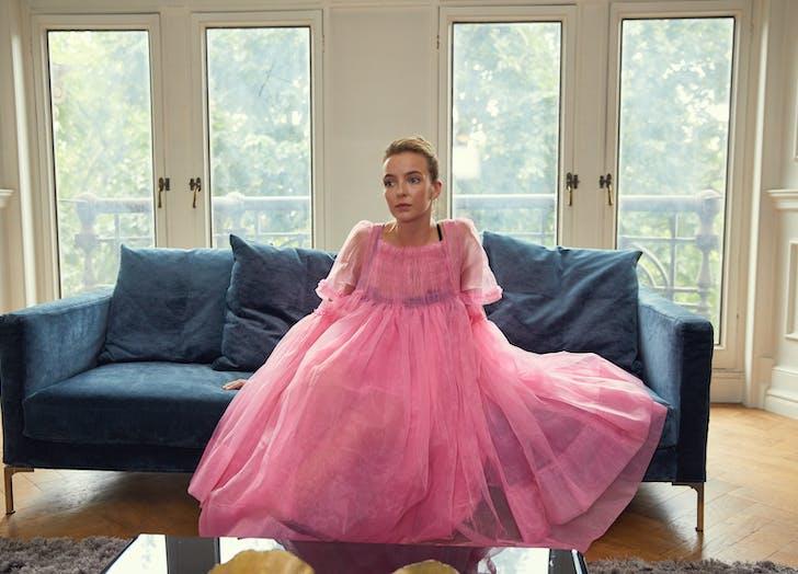 Villanelle pink dress