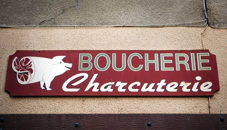 a sign for a boucherie