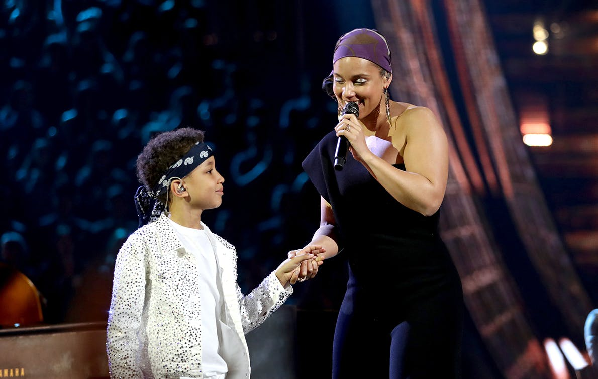 Alicia Keys Teamed Up with Her Son for an Impressive Duet at the iHeartRadio Music Awards