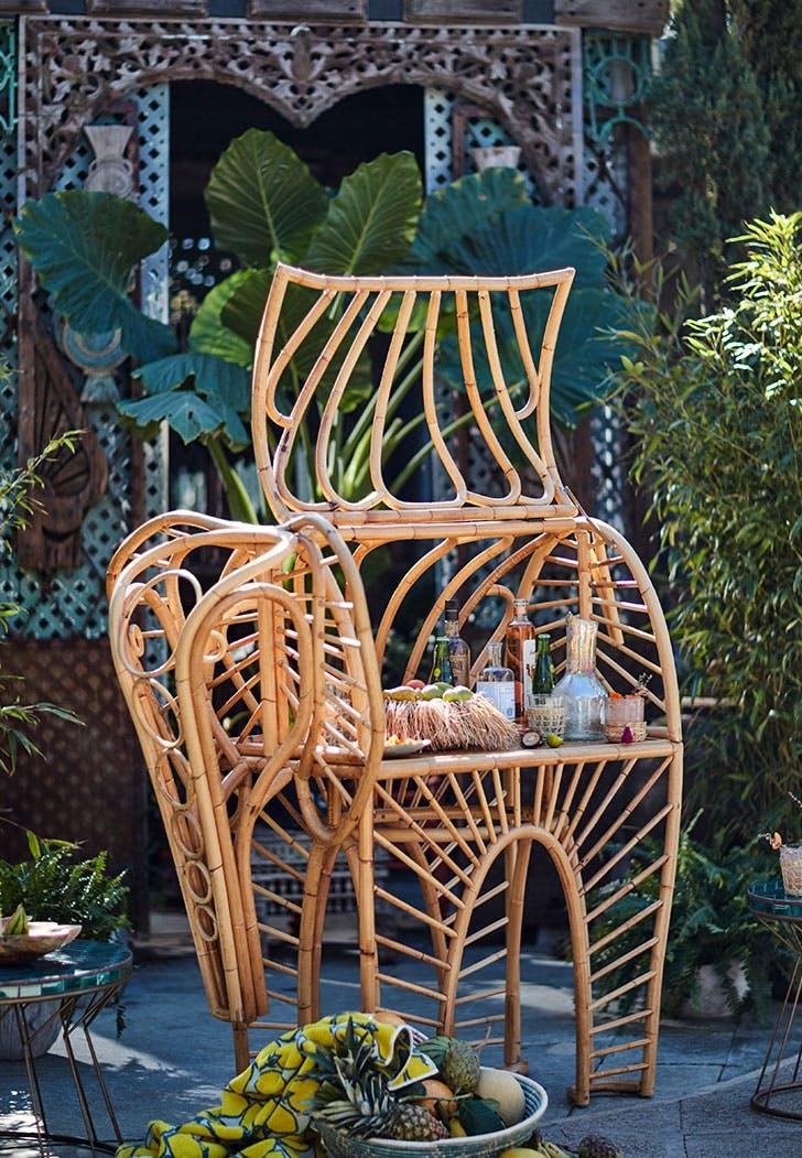 anthropologie outdoor furniture elephant bar cart