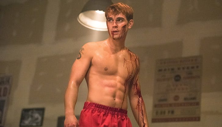 archie bleeding while boxing riverdale