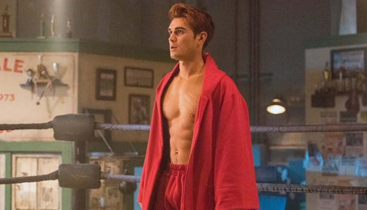 archie in the boxing ring riverdale