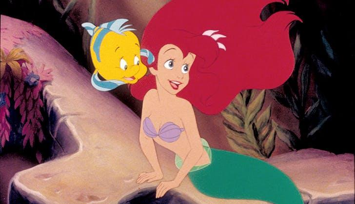 ariel and flounder little mermaid
