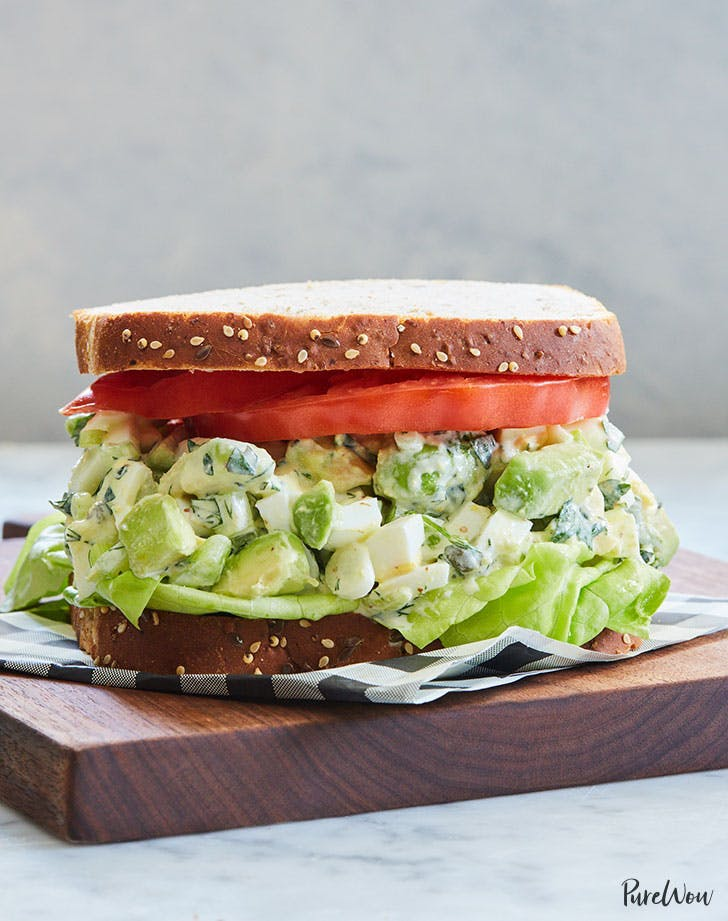 avocado egg salad sandwich recipe lunch ideas