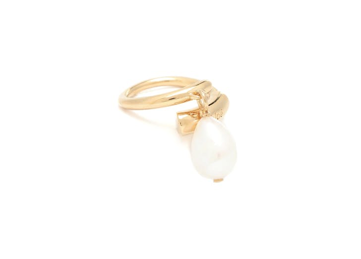 baroque pearl wrap ring