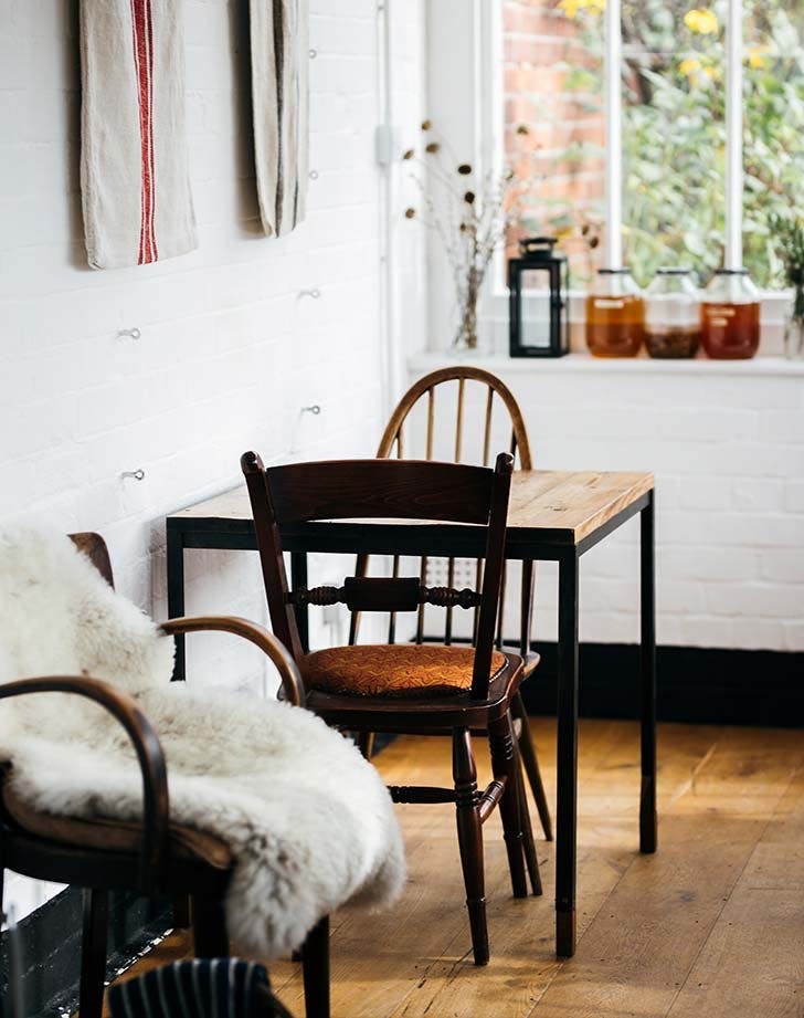 clean small dining room