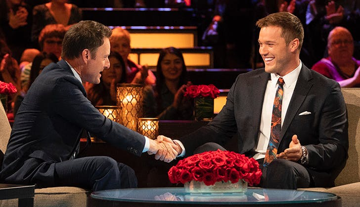 colton underwood chris harrison the women tell all