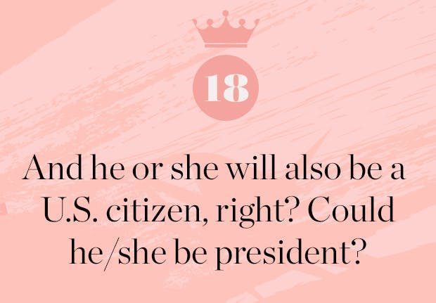 could meghan markle baby be president