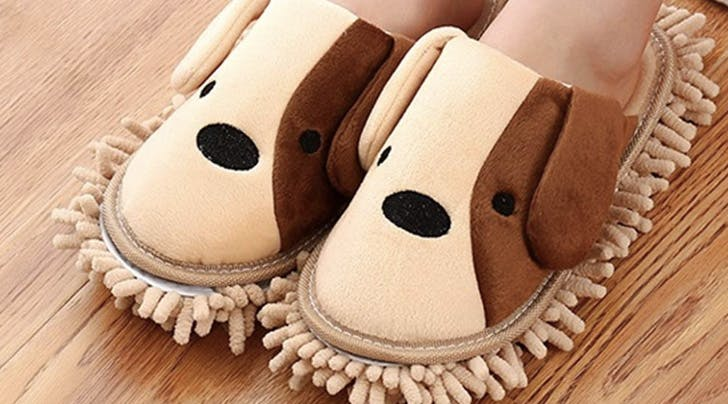 Ditch the Broom, Amazon Is Now Selling Dog Dusting Slippers and We're Ready for Spring Cleaning