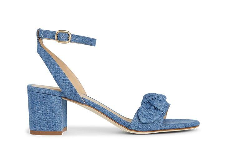 draper james chambray heels