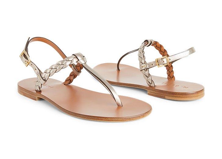 draper james gold sandals