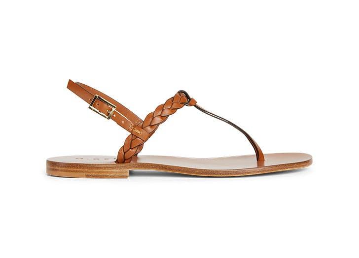 draper james leather sandals