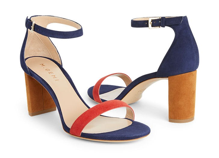 draper james navy red heels