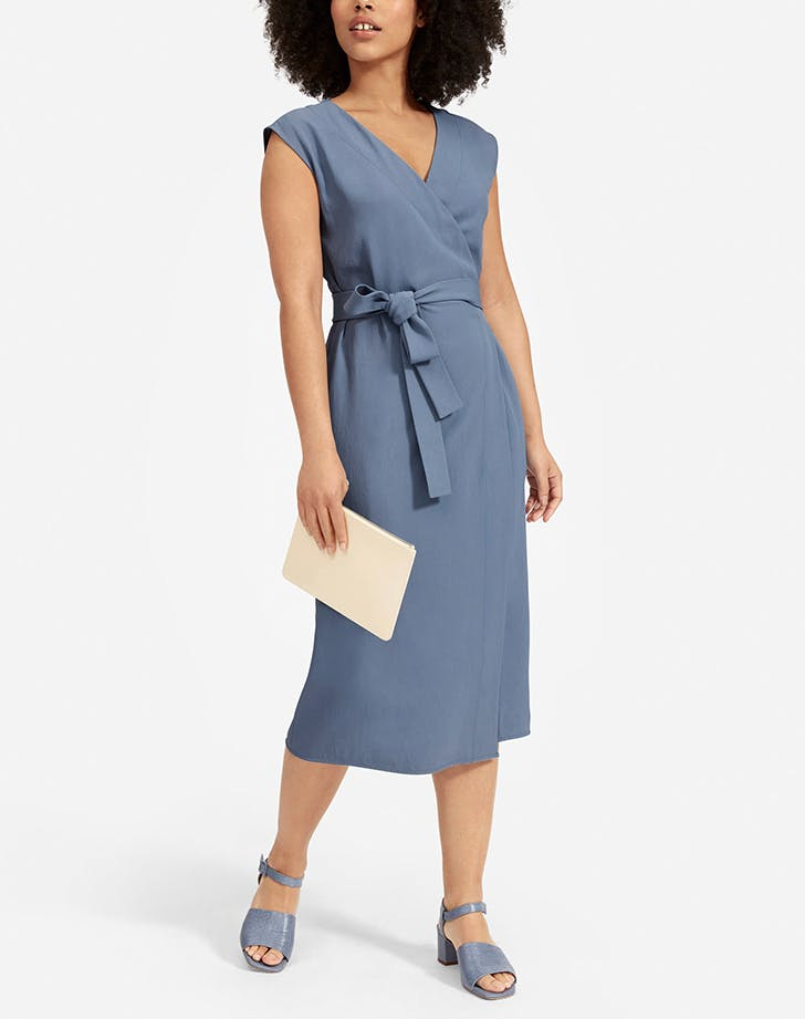 everlane wrap dress