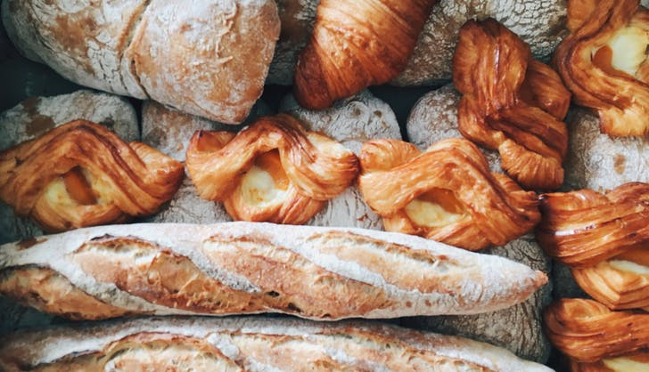 french bread at a boulangerie