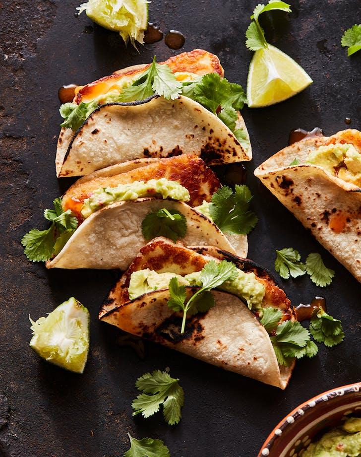 fried halloumi tacos guacamole recipe