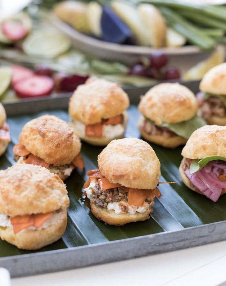 gougeres tea sandwiches with spiced carrots tapenade and ricotta recipe