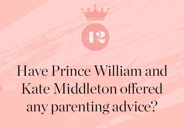 have prince william and kate middleton offered meghan markle any parenting advice