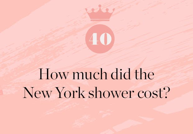 how much did the new york baby shower for meghan markle cost