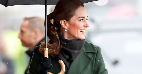 Kate Middleton Wears Shades Of Green And New Hairstyle In Blackpool