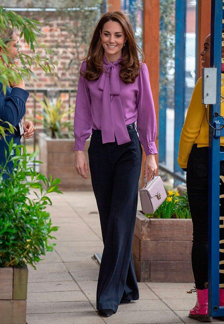kate middleton gucci lilac blouse