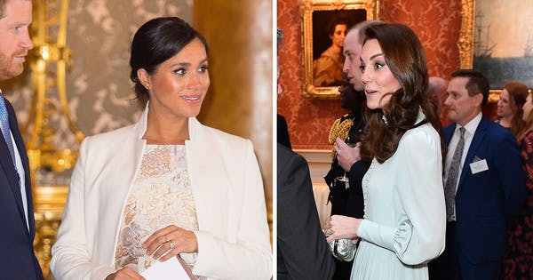 This Video of Meghan Markle and Kate Middleton Cracking Up at the Queen's Event Is BFF #Goals