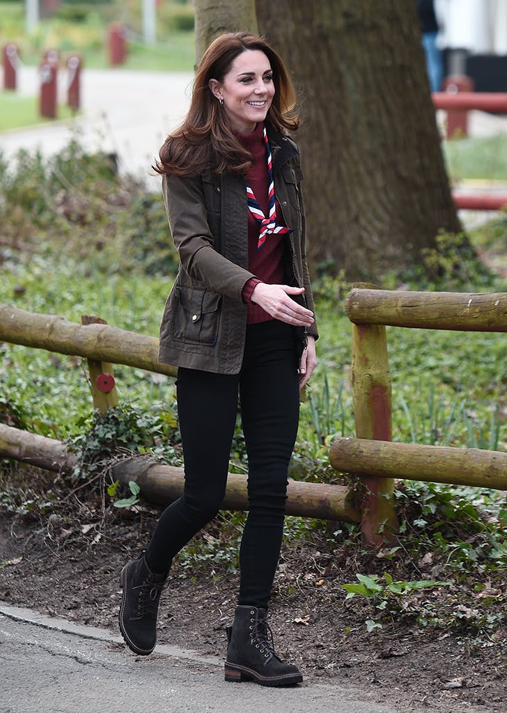 kate middleton wearing a combat boots
