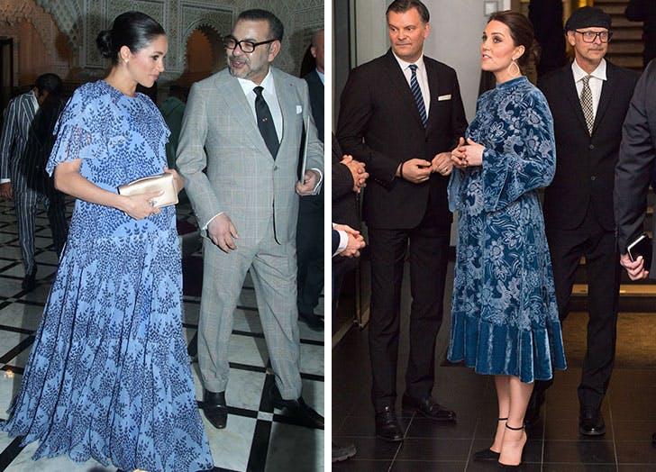 maternity meghan kate blue dress