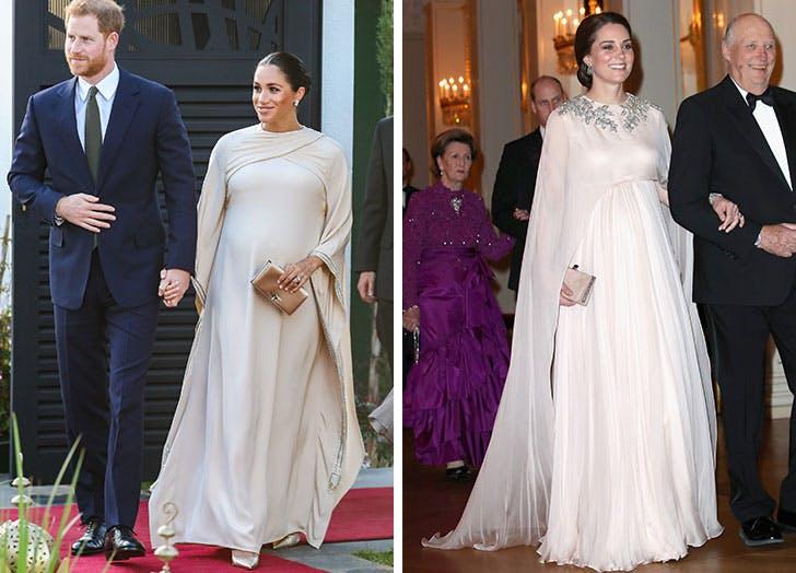 maternity meghan kate cape dresses