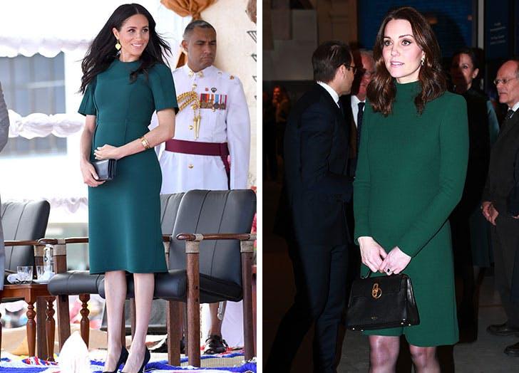 maternity meghan kate green dresses