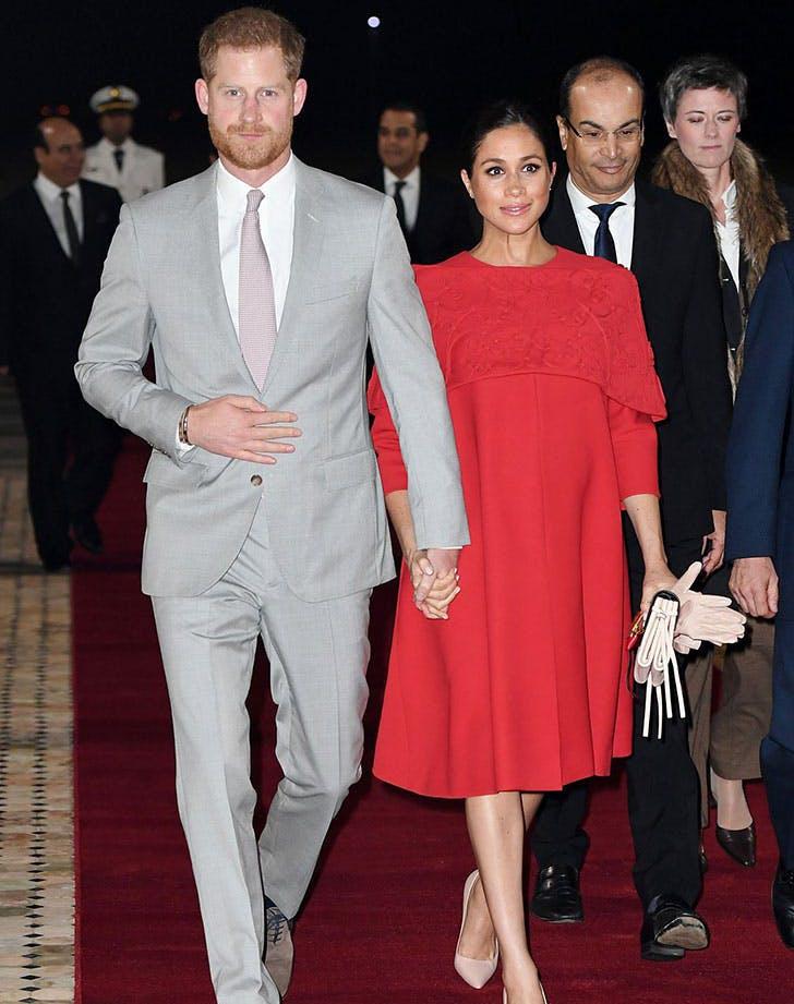 meghan markle prince harry morocco red valentino1