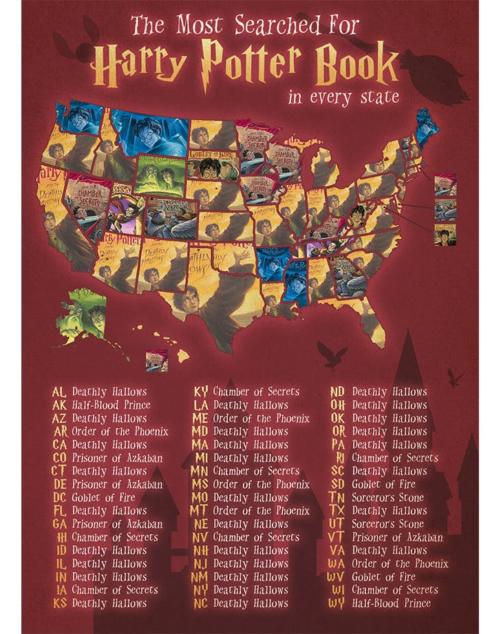 most popular harry potter books in each state1