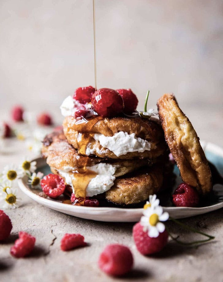 raspberry ricotta croissant french toast recipe