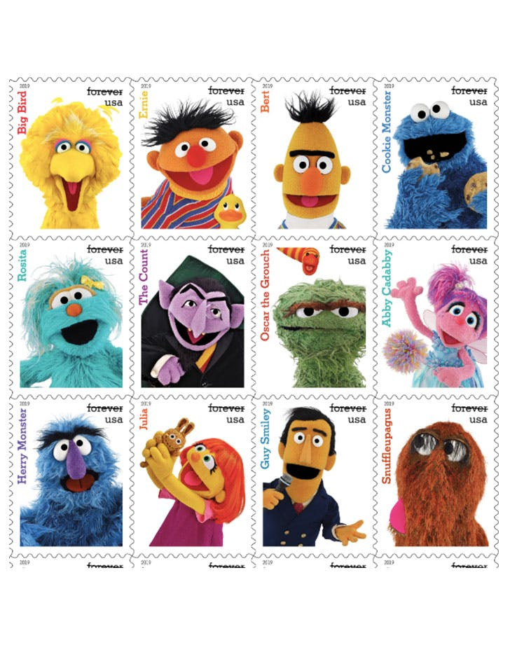 sesame street Stamps 728