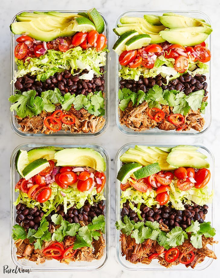 slow cooker meal prep burrito bowls recipe lunch ideas