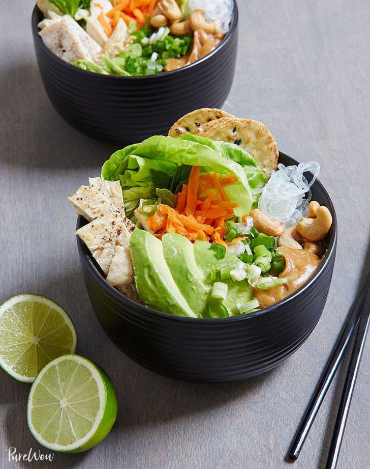 spring roll bowls recipe lunch ideas