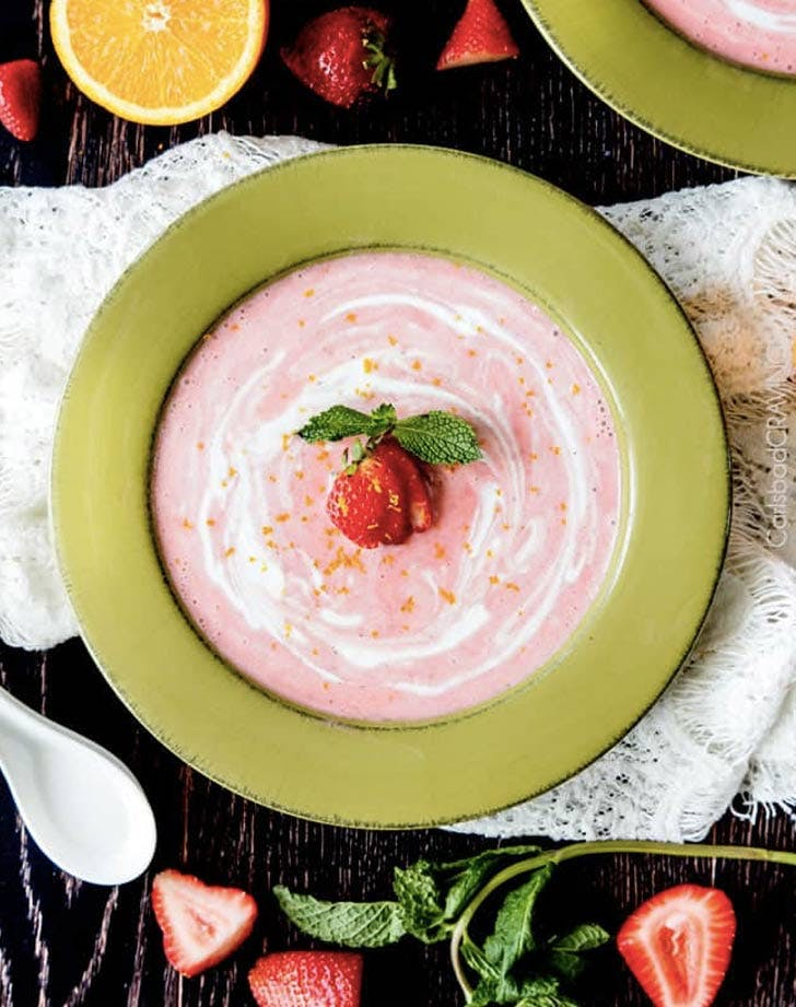 strawberry coconut soup cold dinner recipes