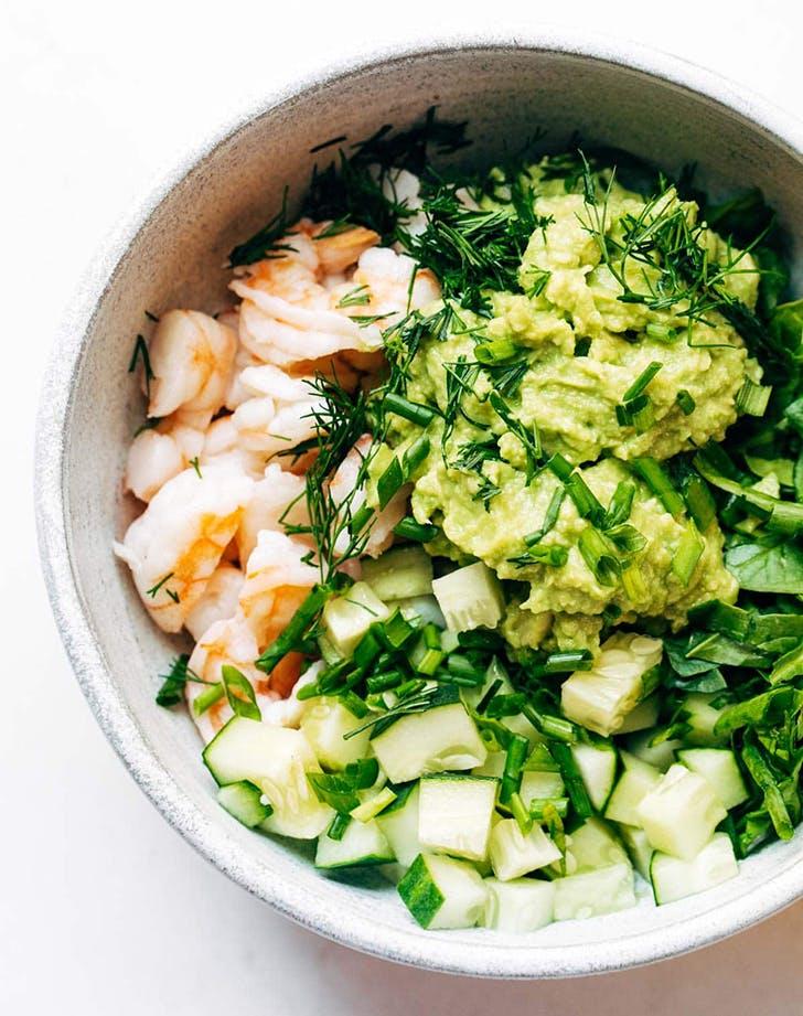super quick avocado shrimp salad recipe