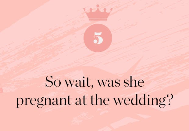 was meghan markle pregnant at the wedding