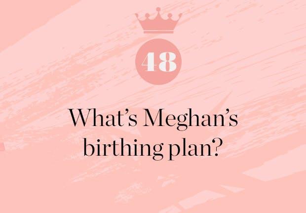 what s meghan markle s birthing plan