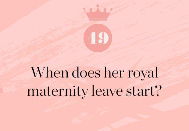 when does meghan markle start maternity leave