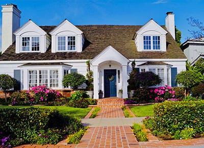 white suburban home 400