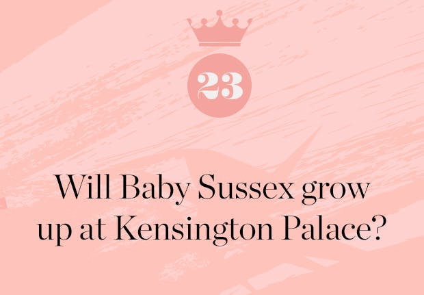 will baby sussex grow up at kensington palace