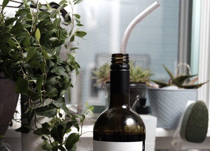 Massive Glitter Wine Straws Prove the End Is Nigh