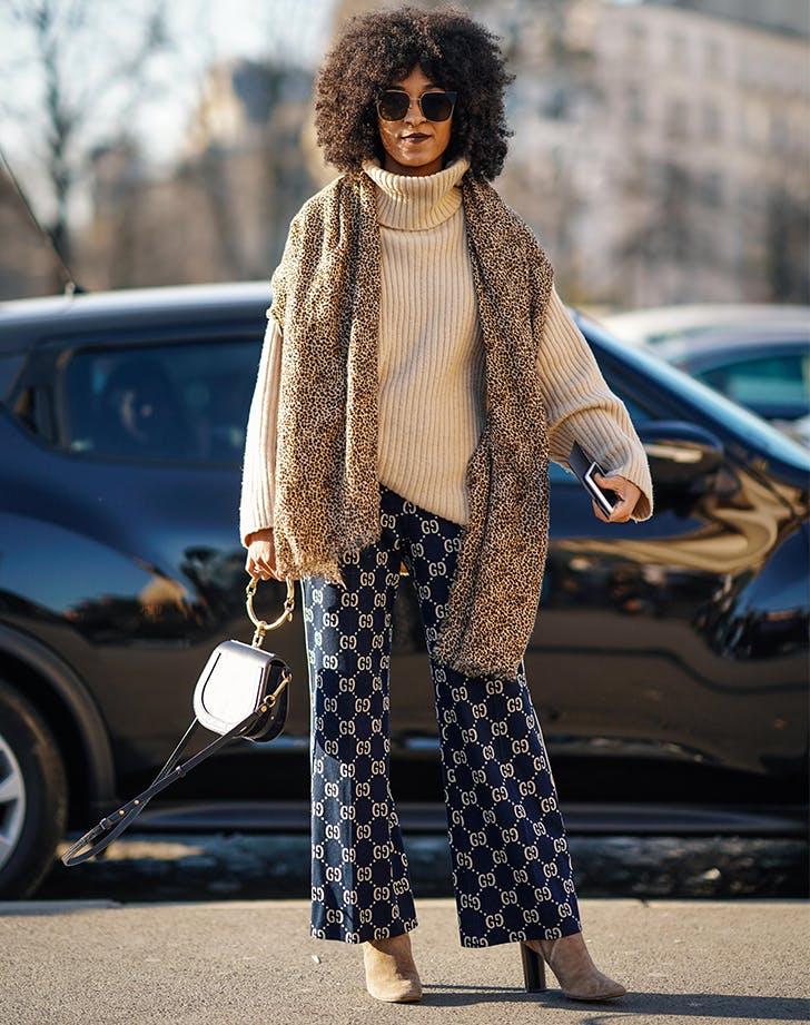 woman wearing an oversize sweater