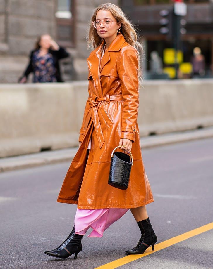 woman wearing orange and pink