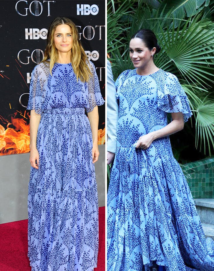 Amanda Peet and Meghan Markle side by side